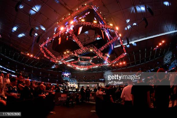 General view of the Octagon prior to the UFC 243 event at Marvel Stadium on October 06, 2019 in Melbourne, Australia.