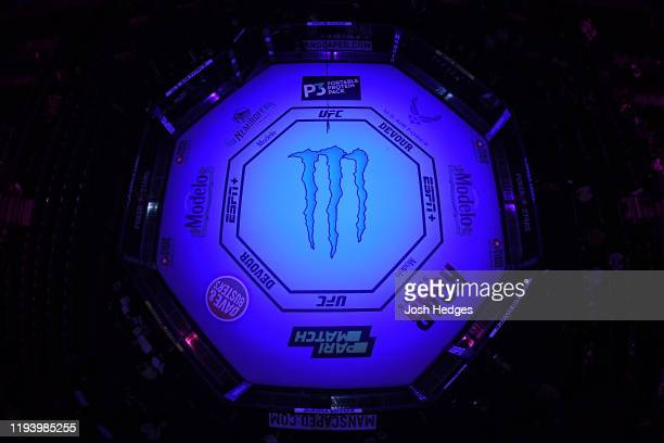 A general view of the Octagon prior to the UFC 245 event at TMobile Arena on December 14 2019 in Las Vegas Nevada