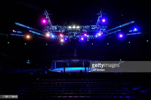 A general view of the Octagon prior to the UFC Fight Night event at Sajik Arena 3 on December 21 2019 in Busan South Korea