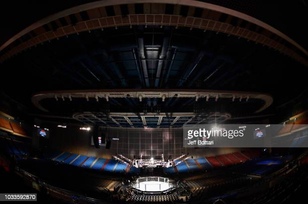 A general view of the Octagon prior to the UFC Fight Night event at Olimpiysky Arena on September 15 2018 in Moscow Russia