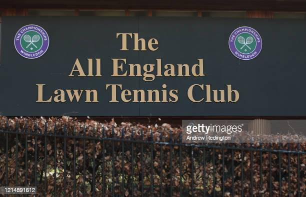 A general view of the offices of The All England Lawn Tennis and Croquet Club best known as the venue for the Wimbledon Championships on March 26...