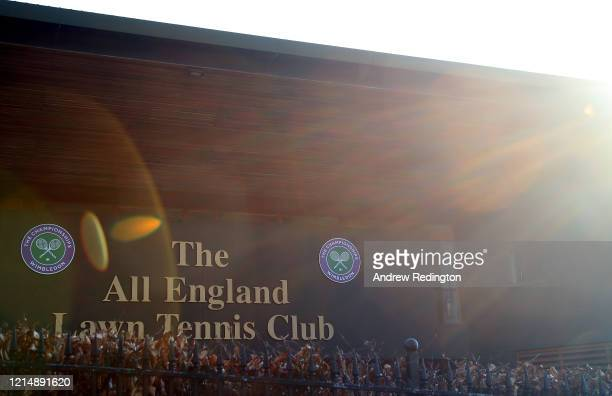 General view of the offices of The All England Lawn Tennis and Croquet Club, best known as the venue for the Wimbledon Championships, on March 26,...