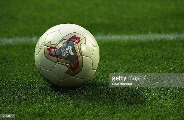 General view of the official Adidas Fevernova World Cup football during the Spain v Paraguay, Group B, World Cup Group Stage match played at the...