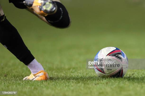 General view of the Official Mitre Delta EFL match ball during the Sky Bet Championship match between Sheffield Wednesday and Derby County at...