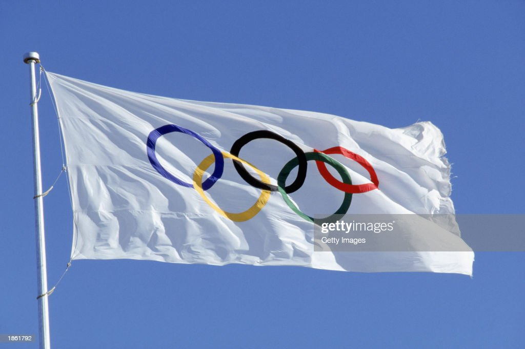 Official Olympic Flag : News Photo