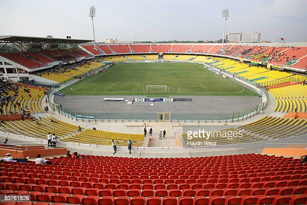 General view of the Ohene Djan Sports Stadium before the International Friendly football match between Ghana and Tunisia on November 19 2008 in Accra...