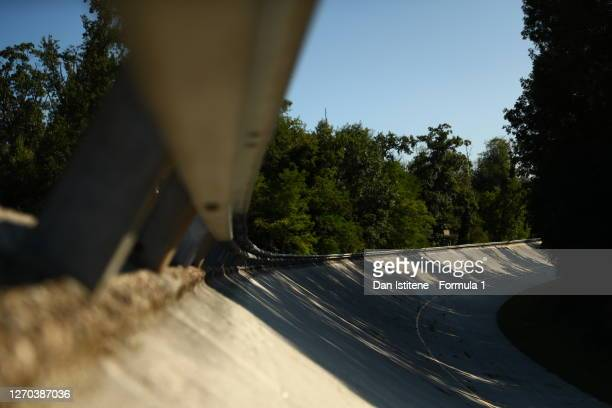 General view of the old circuit banking during previews ahead of the Formula 3 Championship at Autodromo di Monza on September 03, 2020 in Monza,...