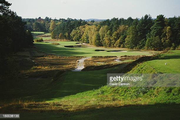 A general view of the Old Course on 1st April 1986 at the Sunningdale Golf Club in Sunningdale United Kingdom