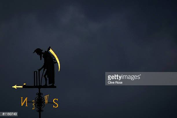 General view of the Old Father Time weather vane during the fourth day of the 1st npower Test Match between England and New Zealand at Lord's on May...