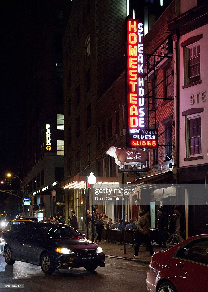 A General View Of The Old Homestead Steakhouse During The Night On News Photo Getty Images