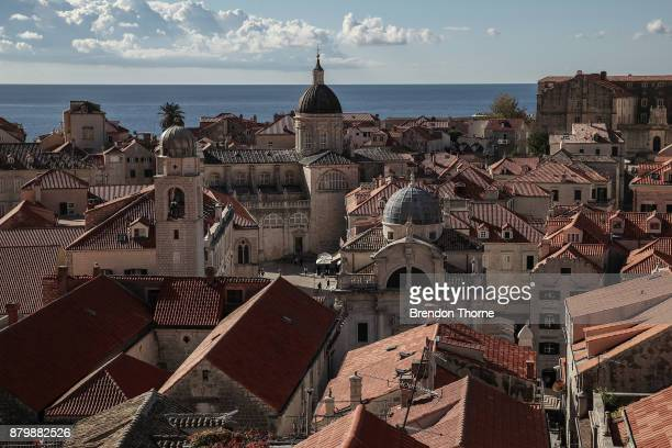 A general view of the Old Town on October 9 2017 in DUBROVNIK Croatia