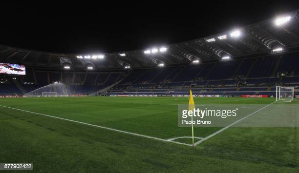 A general view of the Olimpico Stadium before the UEFA Europa League group K match between SS Lazio and Vitesse at Olimpico Stadium on November 23...