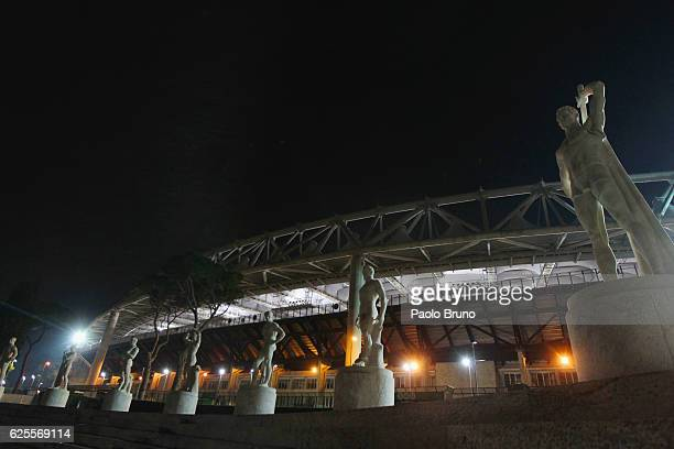 A general view of the Olimpico Stadium before the UEFA Europa League match between AS Roma and FC Viktoria Plzen at Olimpico Stadium on November 24...