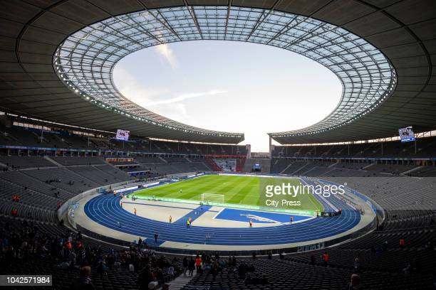 A general view of the Olympiastadion before the game between Hertha BSC and Bayern Muenchen at the Olympiastadion on september 28 2018 in Berlin...
