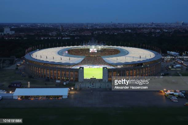 A general view of the Olympiastadion during day six of the 24th European Athletics Championships at Olympiastadion on August 12 2018 in Berlin...