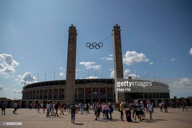 General view of the Olympiastadion during German Athletics National Championship on August 03, 2019 at Olympiastadion in Berlin, Germany.