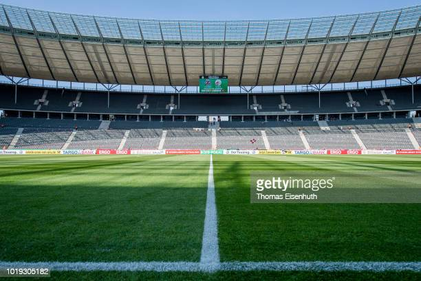 General view of the Olympiastadion in Berlin prior the German DFB Cup first round match between BFC Dynamo and 1 FC Koeln at Olympiastadion on August...