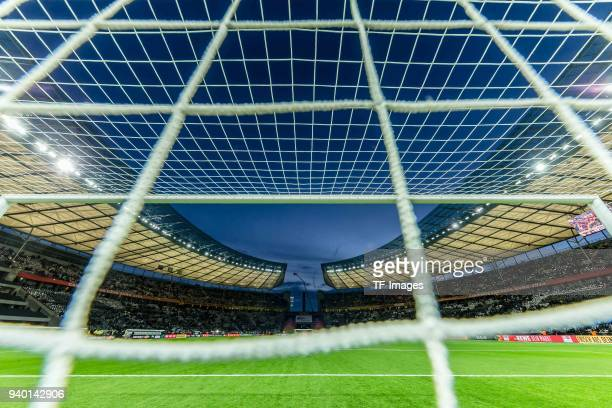 General view of the Olympiastadion prior to the international friendly match between Germany and Brazil at Olympiastadion on March 27 2018 in Berlin...