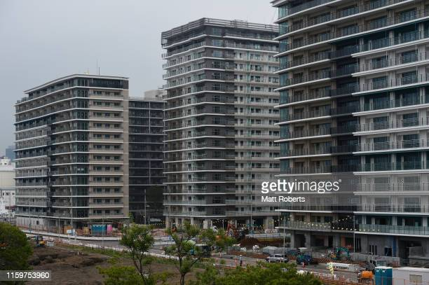 General view of the Olympic an Paralympic Village during a media tour of Tokyo 2020 Olympic venues on July 03, 2019 in Tokyo, Japan.