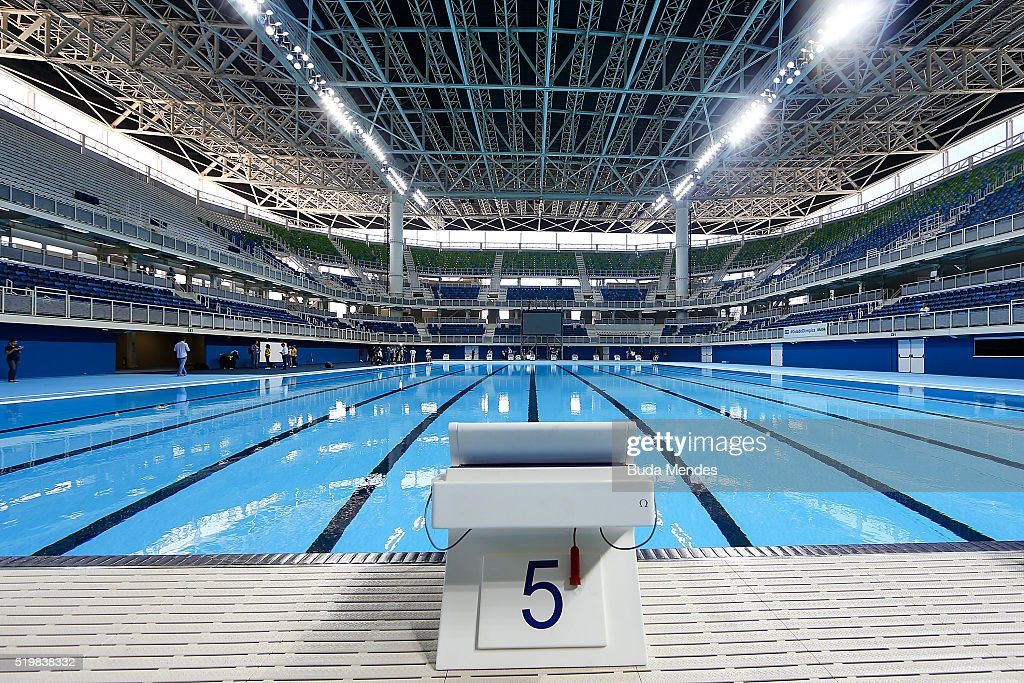 Rio 2016 Olympic Games: President Dilma Rousseff Unveils the Olympic Aquatics Stadium at the Barra Olympic Park : News Photo