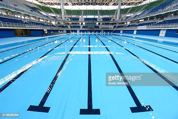 Empty olympic swimming pool stock photos and pictures - What is the size of an olympic swimming pool ...
