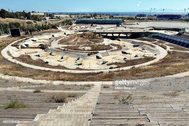 General view of the Olympic Canoe/Kayak Slalom Center at the Helliniko Olympic complex in Athens Greece on July 31 2014 Ten years ago the XXVIII...