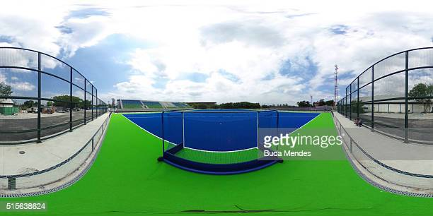General view of the Olympic Hockey Centre at Deodoro Olympic Park on March 14 2016 in Rio de Janeiro BrazilPhoto by Buda Mendes/Getty Images