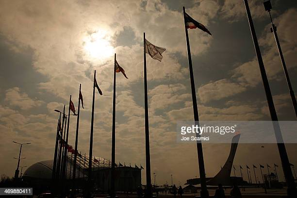 A general view of the Olympic Park during the Sochi 2014 Winter Olympics on February 17 2014 in Sochi Russia