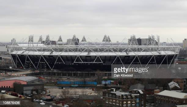 A general view of the Olympic site including the Stadium at Stratford on February 7 2011 in London England A decision by the Olympic Park Legacy...