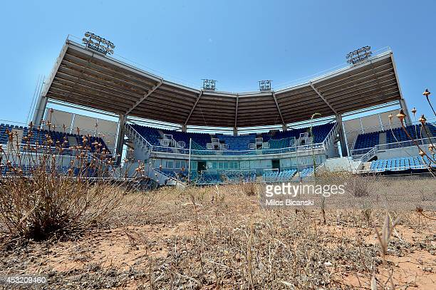 General view of the Olympic Softball stadium at the Helliniko Olympic complex in Athens Greece on July 31 2014 Ten years ago the XXVIII Olympiad was...