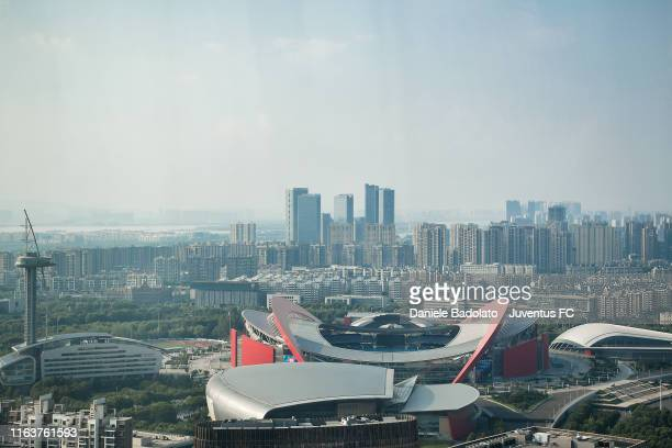 General view of the Olympic Sports Center Stadium on July 23, 2019 in Nanjing, China.