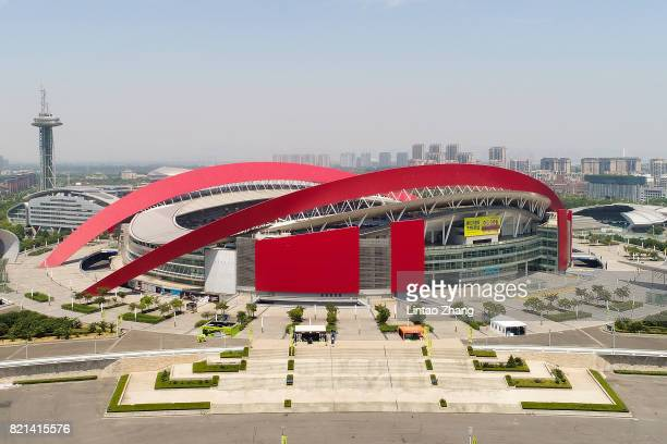 General view of the Olympic Sports Centre Stadium ahead of the 2017 International Champions Cup football match between Olympique Lyonnais and FC...