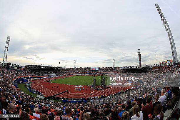 A general view of the Olympic Stadium during day four of the 23rd European Athletics Championships at Olympic Stadium on July 9 2016 in Amsterdam...