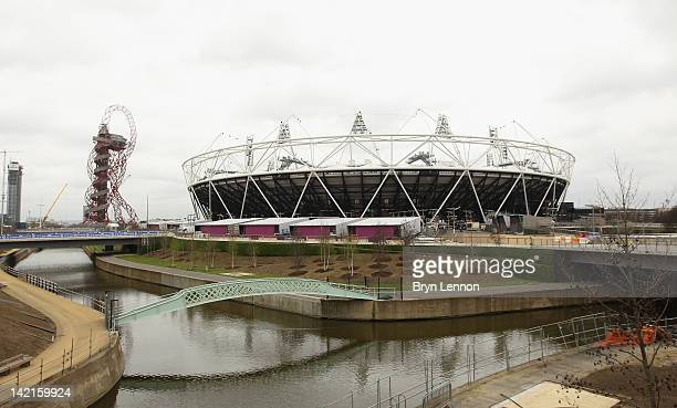 General view of the Olympic Stadium during the National Lottery Olympic Park Run at Olympic Stadium on March 31, 2012 in London, England.