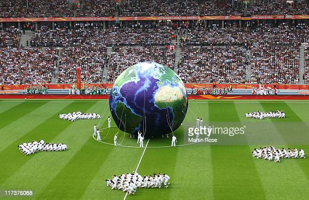 A general view of the Olympic stadium during the opening ceremoni before the FIFA Women's World Cup 2011 Group A match between Germany and Canada at...