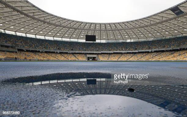 General view of the Olympic Stadium in Kiev Ukraine Monday May 14 2018 May 26 2018 in Kiev will be the final of the Champions League between Real...