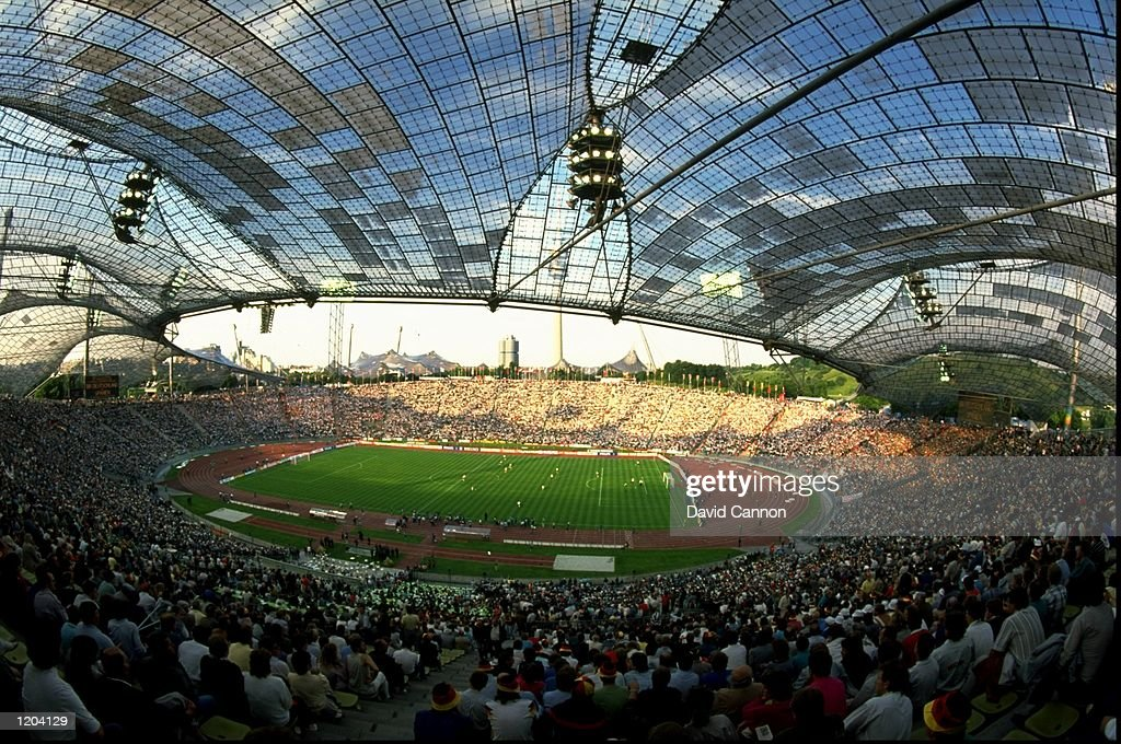 General view of the Olympic Stadium in Munich, Germany during the 1988 European Championships. \ Mandatory Credit: David Cannon /Allsport
