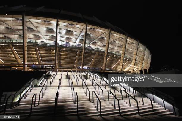 General view of the Olympic Stadium on November 11 2011 in Kiev Ukraine