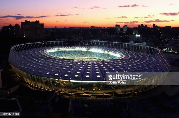 General view of the Olympic Stadium on November 9 2011 in Kiev Ukraine