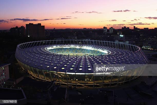 General view of the Olympic Stadium on November 9, 2011 in Kiev, Ukraine.