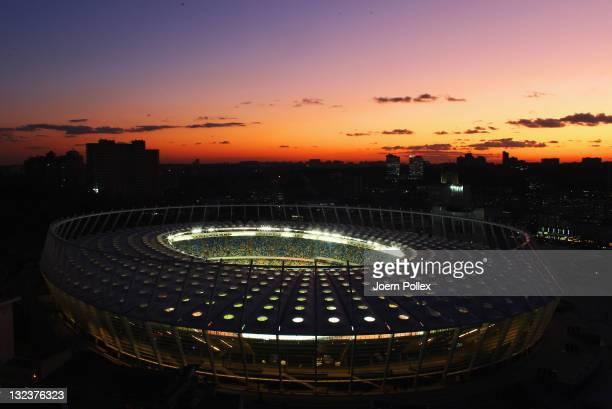 General view of the Olympic Stadium on November 9 2011 in Kiev Ukraine
