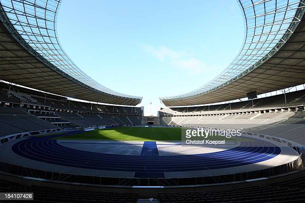 General view of the Olympic Stadium on October 14 2012 in Berlin Germany