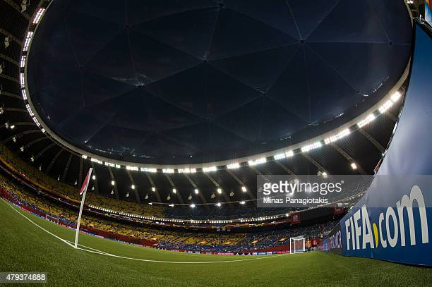 General view of the Olympic Stadium prior to the 2015 FIFA Women's World Cup semi final match between the United States and Germany on June 30, 2015...