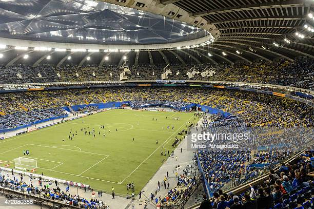 General view of the Olympic Stadium prior to the 2nd Leg of the CONCACAF Champions League Final between the Montreal Impact and Club America at...
