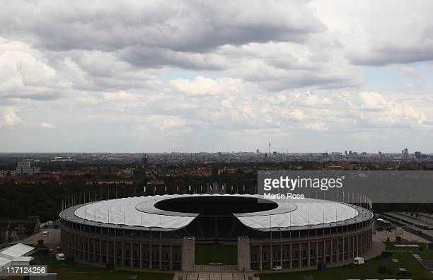 A general view of the Olympic stadium prior to the Germany Women national team press conference at Mercedes Welt Berlin on June 23 2011 in Berlin...