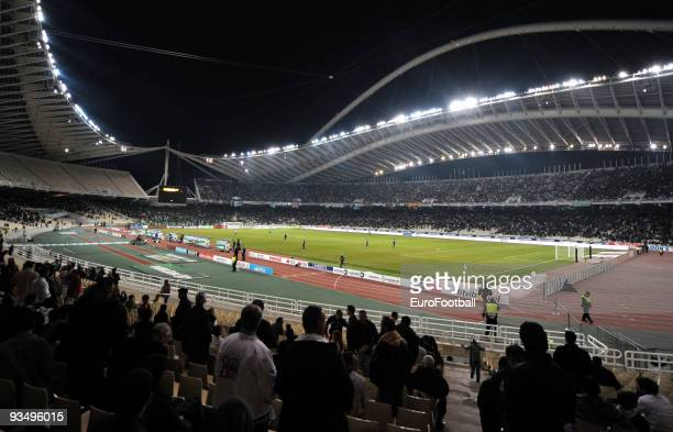 General view of the Olympic Stadium taken during the Super League match between Panathinaikos FC and Asteras Tripolis held on November 22 2009 at the...