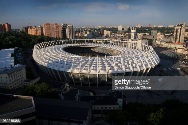 A general view of the Olympic Stadium the NSC Olimpiyskiy ahead of the UEFA Champions League Final between Real Madrid and Liverpool on May 25 2018...
