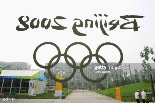 General view of the Olympic Village is seen on July 27, 2008 in Beijing, China. Located in the northwest corner of the Olympic Green, the Village...