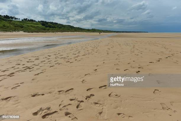 General view of the Omaha Beach in Colleville-sur-Mer during D-Day Festival Normandy 2017. Tuesday 6th June is the 73rd anniversary of the D-Day...