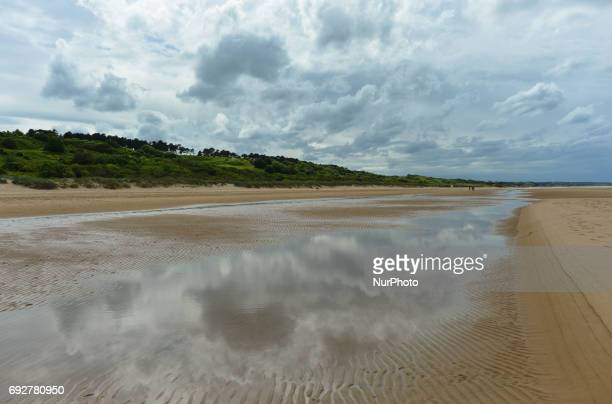 A general view of the Omaha Beach in CollevillesurMer during DDay Festival Normandy 2017 Tuesday 6th June is the 73rd anniversary of the DDay...